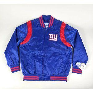 New York Giants NFL VTG Starter Satin Jacket Blue
